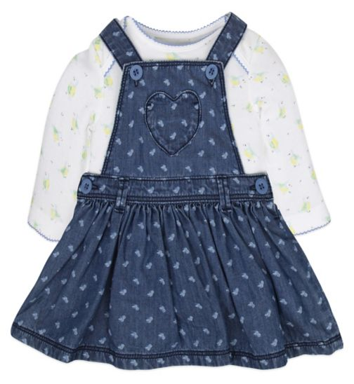 Mini Club Baby Girls Pinny and Bodysuit Set Bird