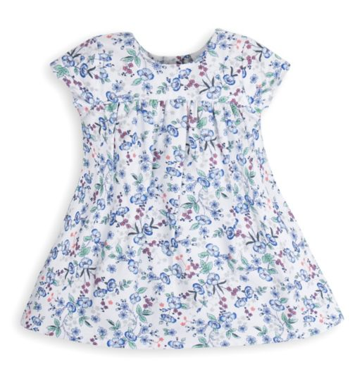 Mini Club Baby Girls Woven Dress White Floral