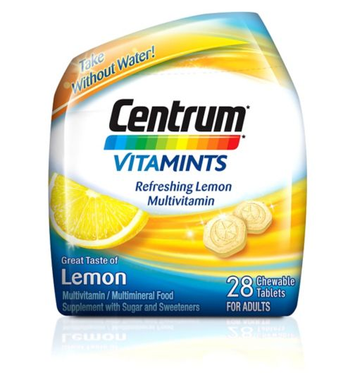 Centrum Vitamints Lemon - 28 chewable tablets