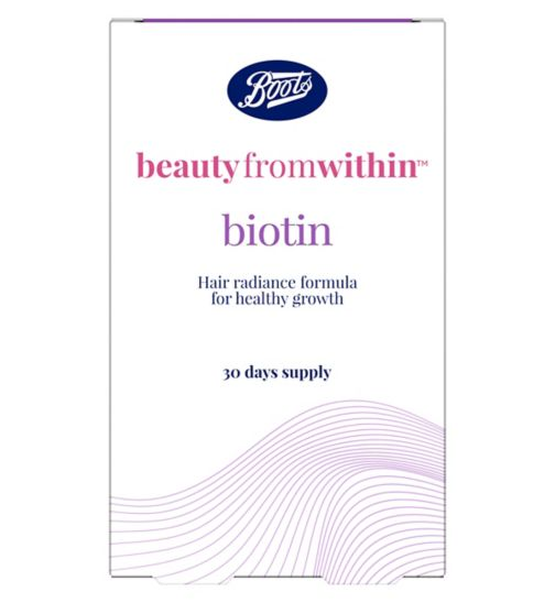 Boots Beauty From Within Biotin - 900ug 30s