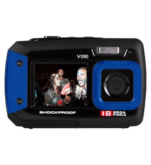 Vivitar V090 Blue (18mp, 2.7Inch and 1.8Inch screens, Waterproof) Camera