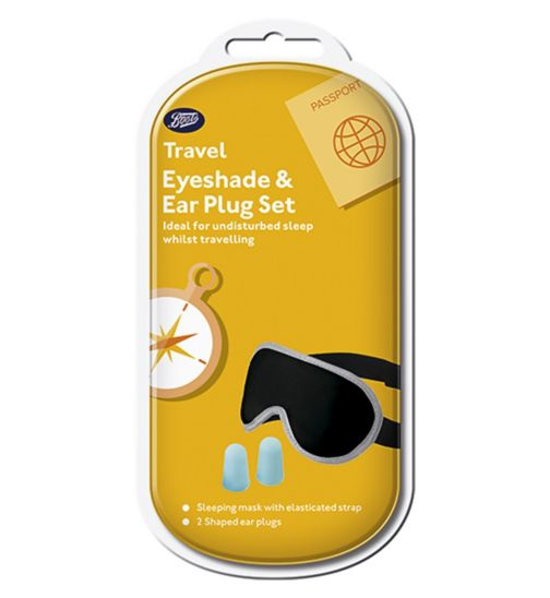 Boots Travel Eyeshade & Earplug Set