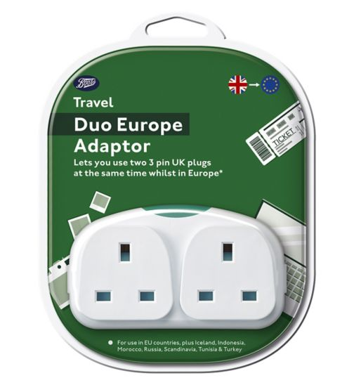 Boots UK to Europe Duo Adaptor