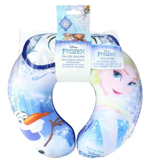 Disney Frozen Travel Pillow and Eye Shade Set
