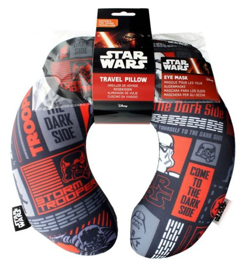 Disney Star Wars Travel Pillow and Eye Shade Set