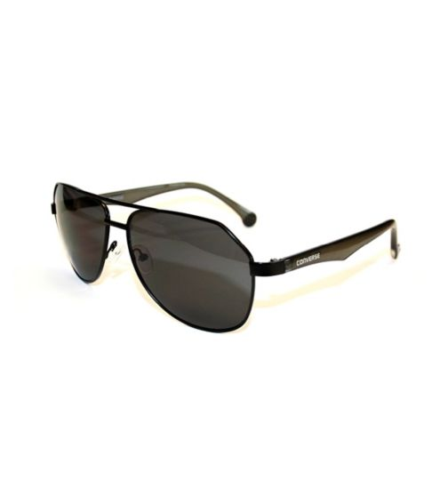 Converse Black Metal Aviator Sunglasses with Scultped Arms
