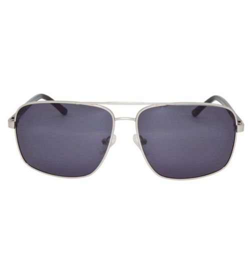 Barbour Silver Aviator Sunglasses with Black Arms