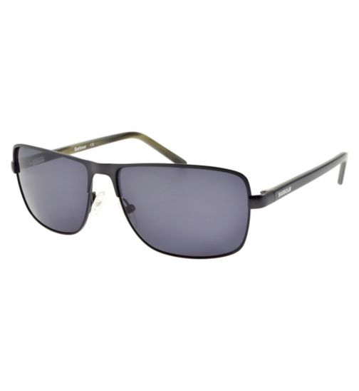 Barbour Gunmetal Sunglasses with Black Arms