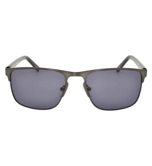 Barbour Gunmetal Sunglasses with Keyhole Nose Bridge