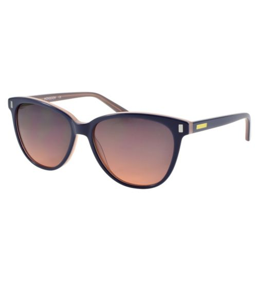 Monsoon Navy and Pink Sunglasses with Ombre Coloured Lenses