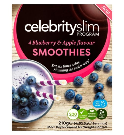 Celebrity Slim Blueberry & Apple Smoothie - 4 Sachets
