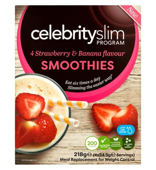 Celebrity Slim Strawberry & Banana Smoothie  - 4 Sachets