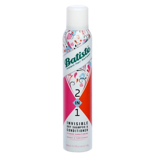 Batiste 2 in 1 Invisible Dry Shampoo & Conditioner Orange and Pomegranate 200ml