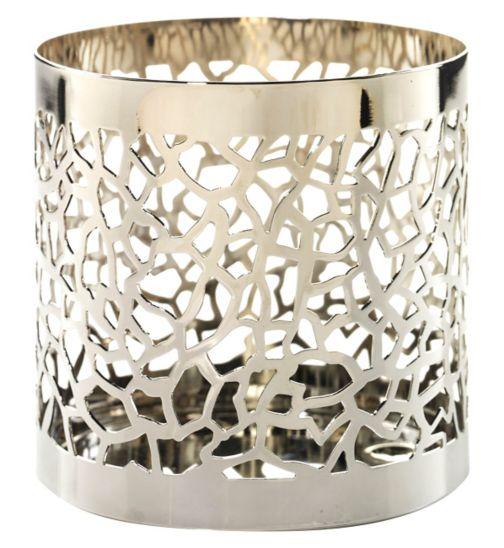 Yankee Candle Fragrance Spheres Holder Matrix Brushed Silver