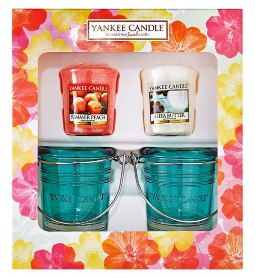 Yankee Candle Two Votive Candle And Two Bucket Candle Gift Set