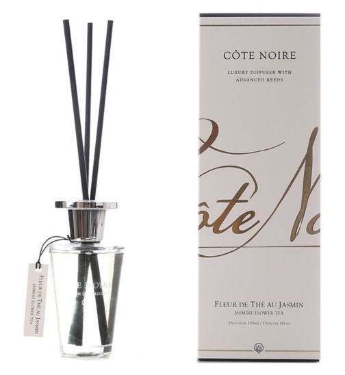 Côte Noire Luxury Diffuser 150ml Jasmine Flower Tea