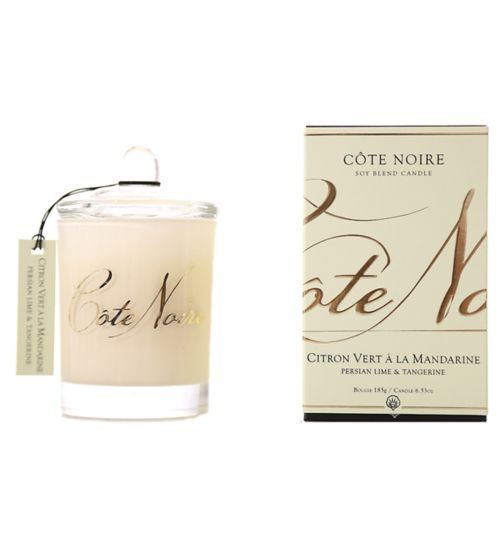 Côte Noire Natural Wax Candle 185g Persian Lime & Tangerine