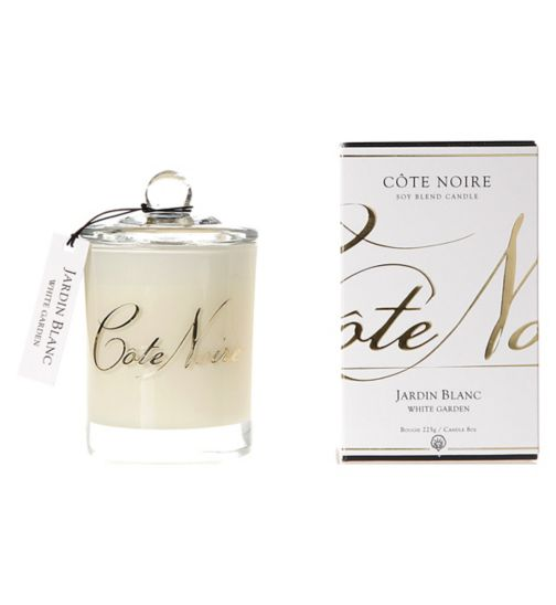 Côte Noire Natural Wax Candle 185g White Garden