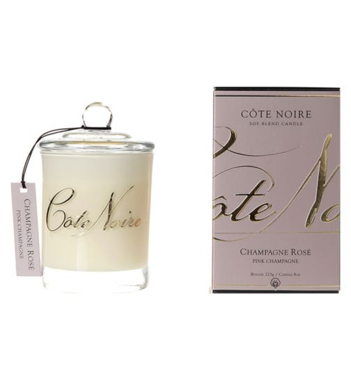 Côte Noire Natural Wax Candle 185g Pink Champagne