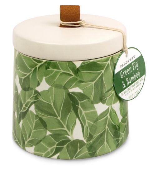 Paddywax Botany Ceramic Candle Green Fig and Bamboo 285g