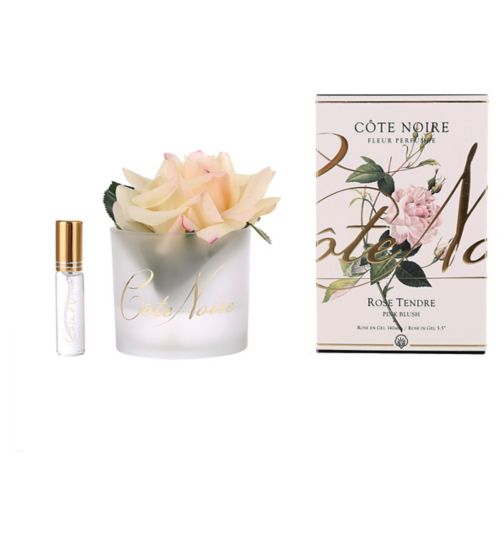 Côte Noire Perfumed Natural Touch Rose - Pink Blush in Frost Glass