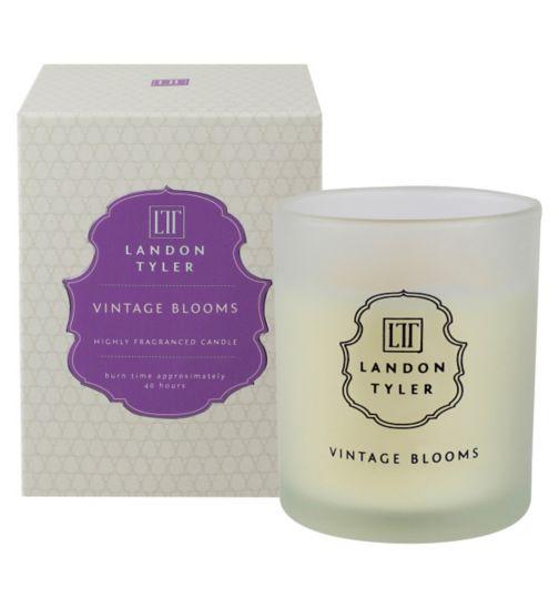 Landon Tyler Candle Glass Vintage Blooms