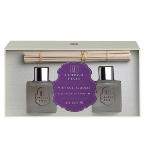 Landon Tyler Set of 2 x 50ml Reed Diffusers - Vintage Blooms
