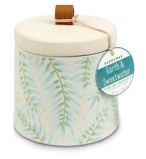 Paddywax Botany Ceramic Candle Earth and Sweetwater 285g