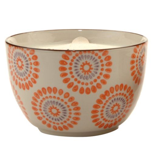 Paddywax Boheme Hand Painted Ceramic Bowl Candle Blood Orange and Bergamot 355g