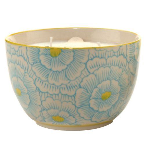 Paddywax Boheme Hand Painted Ceramic Bowl Candle Jasmine and Bamboo 355g