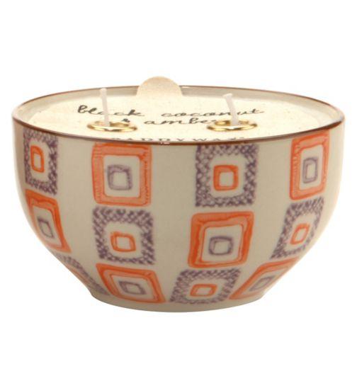 Paddywax Boheme Hand Painted Ceramic Bowl Candle Blood Orange and Bergamot 198g