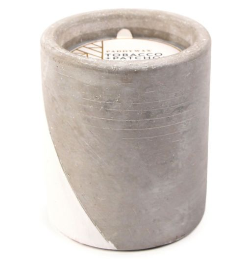 Paddywax Urban Concrete Candle Tobacco and Patchouli 340g