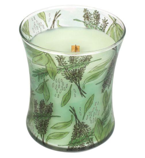 Woodwick Windowsill Herbs Medium Printed Glass