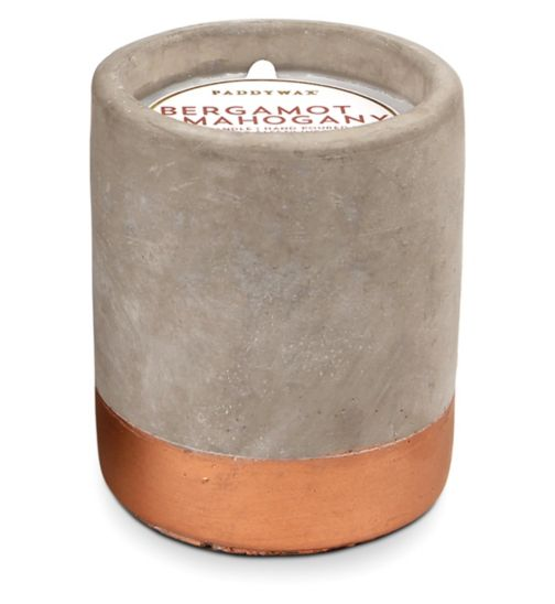 Paddywax Urban Concrete Candle Bergamot and Mahogany 100g
