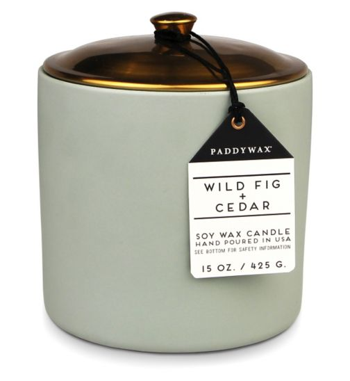 Paddywax Hygge Ceramic Candle Wild Fig and Cedar 425g