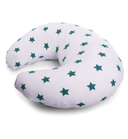 Perfectly Happy People Widgey Nursing Pillow - Teal Star