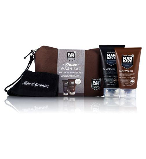 ManCave Shave Wash Bag Gift Set