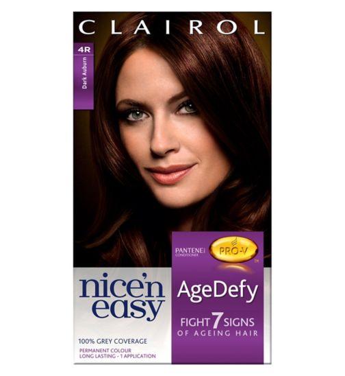 Nice'n Easy Age Defy Permanent Hair Dye Dark Auburn 4R