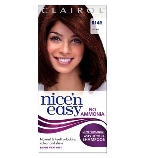 Nice'n Easy Non Permanent Hair Dye No Ammonia Dark Red 814R