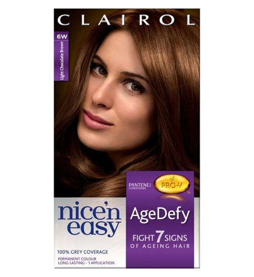 Nice'n Easy Age Defy Permanent Hair Dye Light Chocolate Brown 6W