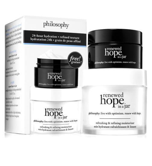 Philosophy renewed hope in a jar moisturiser: day and night duo set