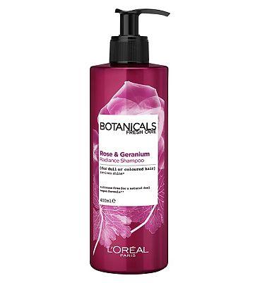 L'Oreal Botanicals Rose & Geranium Coloured Hair Vegan Shampoo 400ml