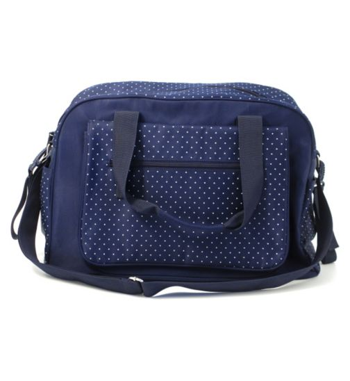 Summer Infant Changing Bag - Navy Polka Dot