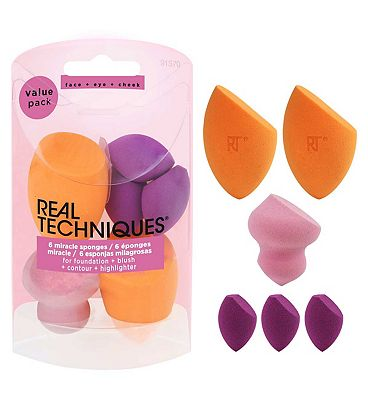 Real Techniques 6 Miracle Sponges