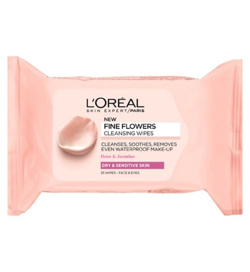 L'Oreal Paris Fine Flowers Cleansing Wipes Dry and Sensitive Skin