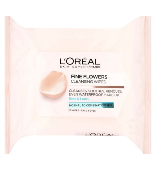 L'Oreal Paris Fine Flowers Wipes Normal to Combination Skin