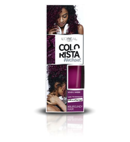 L'Oreal Paris Colorista Washout Burgundy Hair