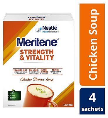 Meritene Strength and Chicken Soup, 50g Sachets, Pack of 4