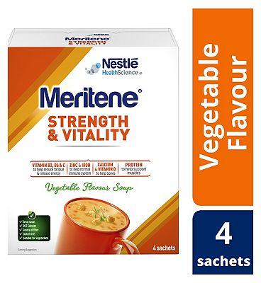 Meritene Strength and Vegetable Soup, 50g Sachets, Pack of 4
