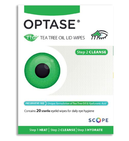 Optase TTO Lid Wipes - 20 pack